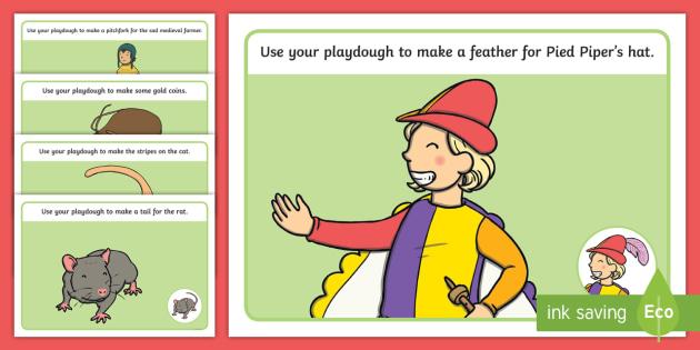 The Pied Piper Playdough Mats - playdough, mats, pied piper