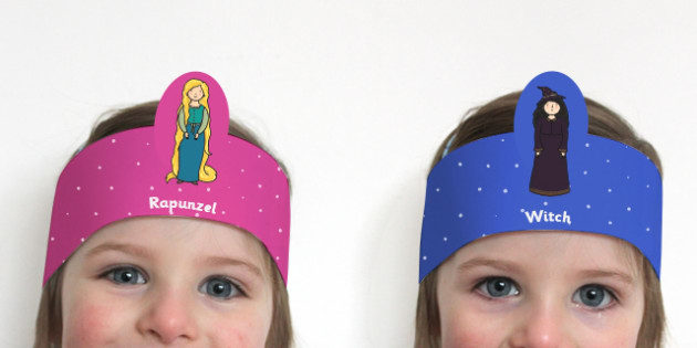 Rapunzel Role Play Headbands - story, roleplay, traditional tales