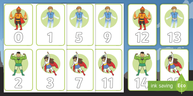 Superhero Numbers 0-100 Cards - Superheroes Numeracy Primary Resources,  Superheroes, Numeracy