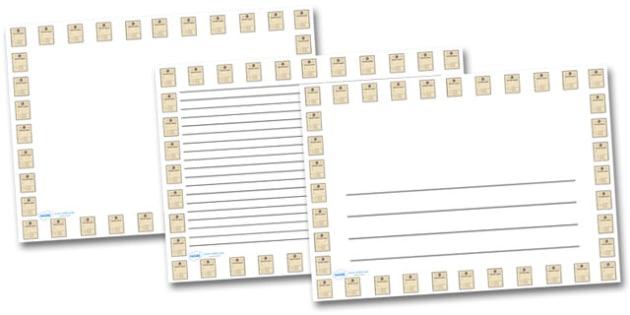Ration Book Landscape Page Borders- Landscape Page Borders - Page border, border, writing template, writing aid, writing frame, a4 border, template, templates, landscape