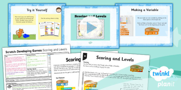 Computing: Scratch: Scoring and Levels Year 5 Lesson Pack 6