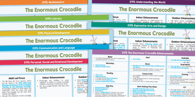 EYFS Lesson Plan and Enhancement Ideas to Support Teaching on The Enormous Crocodile - Early Years, continuous provision, early years planning, adult led, The Enormous Crocodile, Roald Dahl, Africa, animals