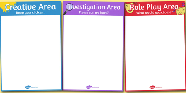 Child Initiated Planning Boards - EYFS, child initiated learning, personalised learning, play, classroom areas, planning, area posters, area display