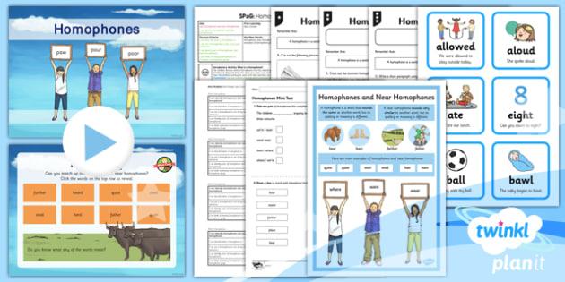 PlanIt Y3 SPaG Lesson Pack: Homophones - planit, year 3, spag, lesson, pack