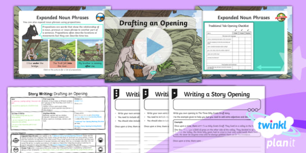 PlanIt Y4 Traditional Tales: The Three Billy Goats Gruff Lesson Pack Story Writing (3)
