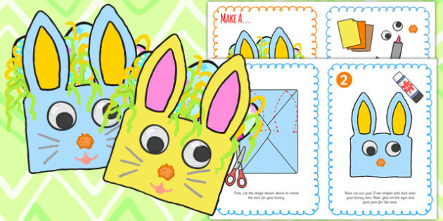 Easter Bunny Craft Envelope Instructions - easter, bunny, religion