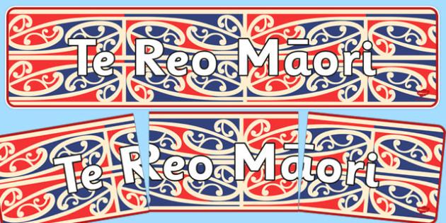 Te Reo Mangopare Display Banner - Maori Patterns
