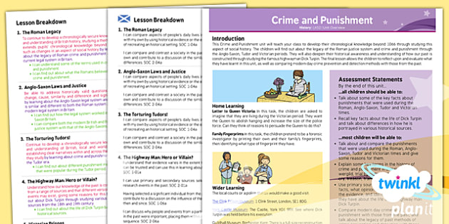 History: Crime and Punishment LKS2 Planning Overview CfE