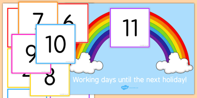 Days Until Next Holiday Funny Staff Room Sign - days, next, holiday