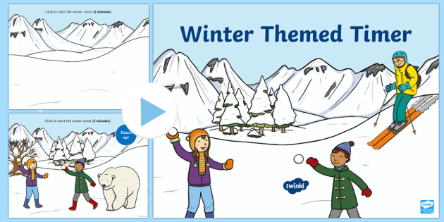 Winter Themed Timer PowerPoint