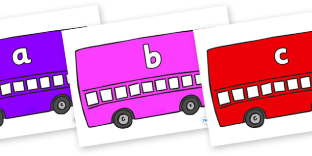 Phase 2 Phonemes on Buses - Phonemes, phoneme, Phase 2, Phase two, Foundation, Literacy, Letters and Sounds, DfES, display