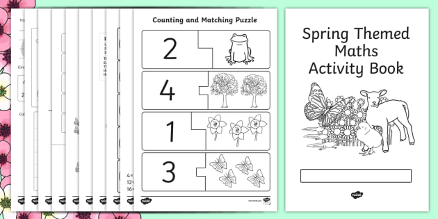 Spring Themed Maths Activity Book - spring, maths, activity, book