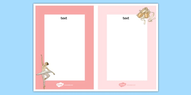 Ballet Editable Note - ballet, dance, creative, editable note