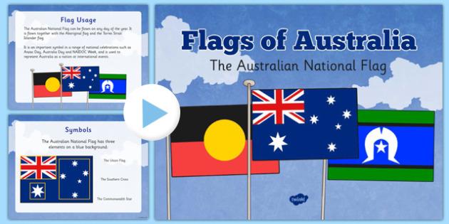 Flags of Australia Australian National Flag Information PowerPoint - australian, country, nation, international, world, culture, colour, art, presentation, class, teacher, led