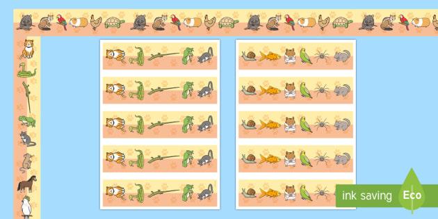 Pets Display Borders - Pet, Display border, border, display, pets, cat, dog, rabbit, mouse, guinea pig, rat, hamster, gerbil, horse, puppy, kitten, snake, chinchilla, snail, lizard, budgie