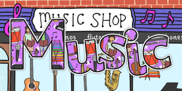 Music Title Display Lettering - Music, Display, Lettering, title