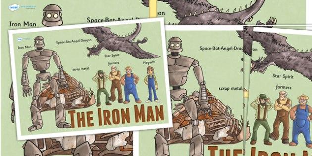 The Iron Man Large Display Poster - iron man, story book, display
