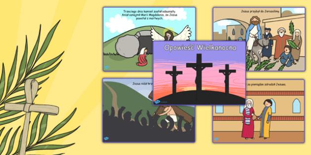 Karty Opowieść Wielkanocna po polsku - historia