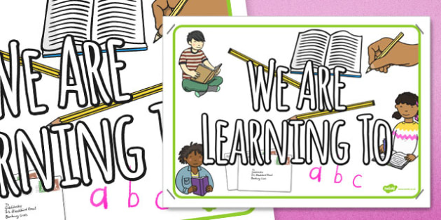 English Themed We Are Learning To Display Poster - sign, learning, area, objective