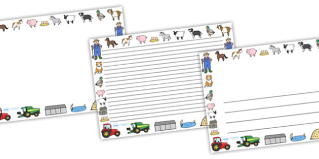 On the Farm Landscape Page Borders - on the farm, farm, on the farm page borders, on the farm themed page borders, farm page borders, landscape