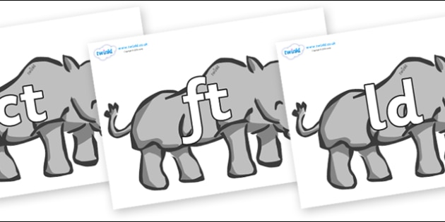 Final Letter Blends on Rhinos - Final Letters, final letter, letter blend, letter blends, consonant, consonants, digraph, trigraph, literacy, alphabet, letters, foundation stage literacy