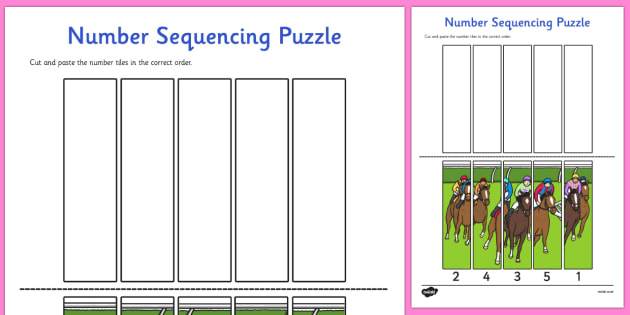 The Melbourne Cup Number Sequencing Puzzle - australia, melbourne cup, number, sequencing