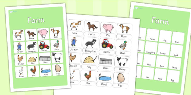 Farm Vocabulary Poster - farm, vocab poster, farm display, vocab