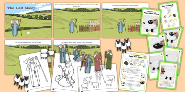 The Lost Sheep Parable Sunday School Resource Pack - lost sheep, parable