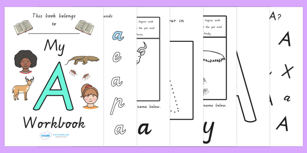 My Workbook A uppercase - letter formation, fine motor skills