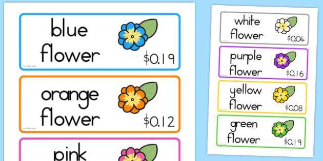 Garden Centre Labels Flowers - australia, garden, centre, labels