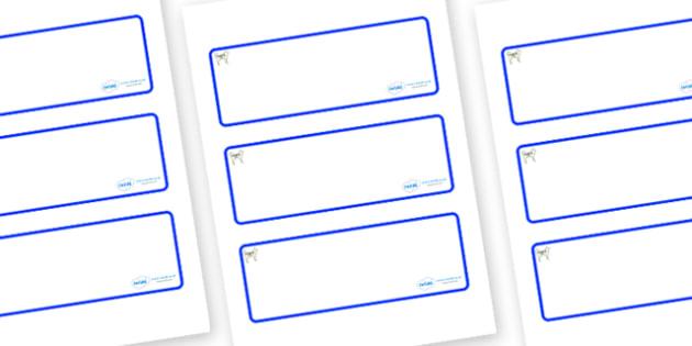 Husky Themed Editable Drawer-Peg-Name Labels (Blank) - Themed Classroom Label Templates, Resource Labels, Name Labels, Editable Labels, Drawer Labels, Coat Peg Labels, Peg Label, KS1 Labels, Foundation Labels, Foundation Stage Labels, Teaching Labels