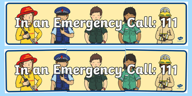 New Zealand 111 Emergency Display Banner - New Zealand Natural Disasters, earthquake, tsunami, volcano, monsoon, hurricane, flood, tornado