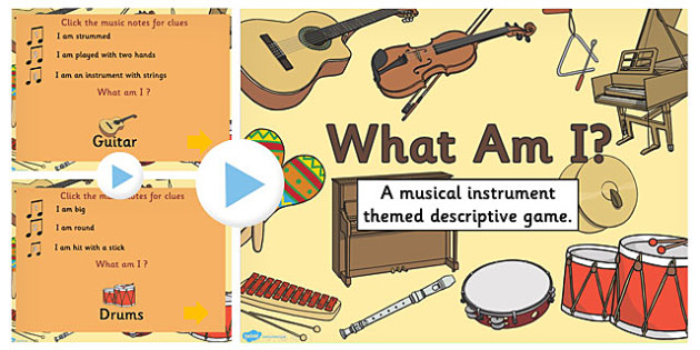 Musical Instrument 'What am I?' PowerPoint - musical, instrument