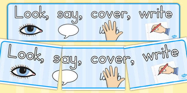 Look Say Cover Write Display Banner - australia, display, banner