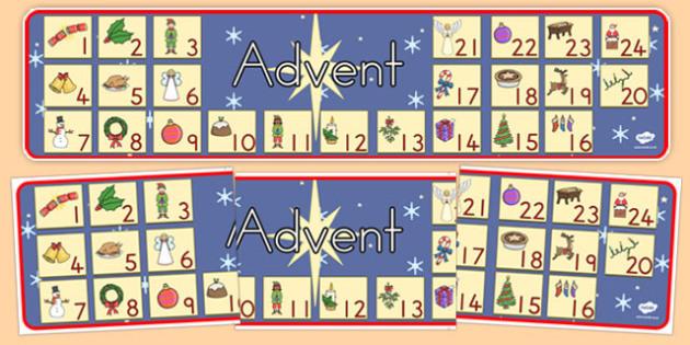Australia Advent Christmas Display Banner - advent, christmas, banner, xmas