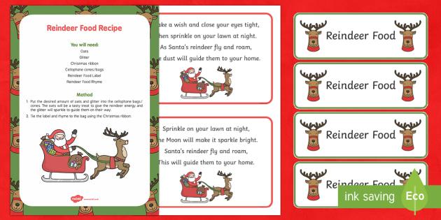 Reindeer Food Resource Pack - Christmas, Nativity, Jesus, xmas, Xmas, Father Christmas, Santa, reindeer food, Christmas eve, Chris