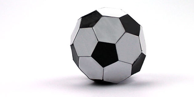 Make Your Own Paper Football Net Activity - ball, sport, craft