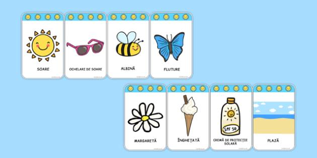 Vara, Cartonase cu vocabular - comunicare, dezvoltarea vorbirii