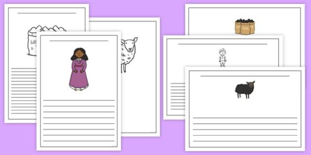 Baa Baa Black Sheep Writing Frames