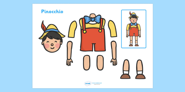 Split Pin (Pinocchio Characters) - pinocchio, story, pinocchio characters, split pin, split, pin, moving, puppet, character