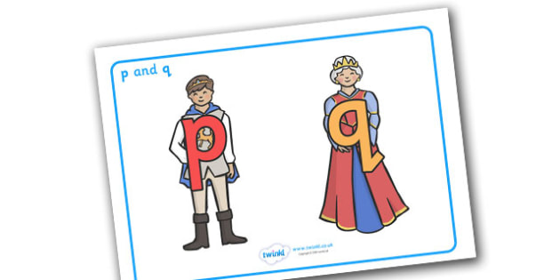 P and Q Display Posters - education, home school, free, posters