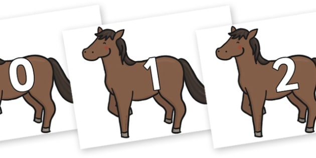 Numbers 0-50 on Chinese New Year Horse - 0-50, foundation stage numeracy, Number recognition, Number flashcards, counting, number frieze, Display numbers, number posters