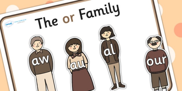 Or Sound Family Cut Outs - sound families, sounds, cutouts, cut