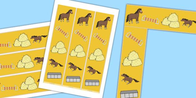 Horses and Ponies Display Border - horses, ponies, display, border