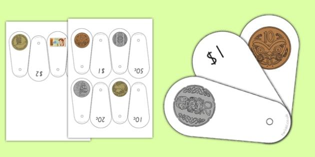 New Zealand Money Coin Fan