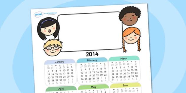 2014 Ourselves Themed Editable Calendar - ourselves, editable calendar, calendar, editable, themed calendar, date, photo calendar, themed editable calendar