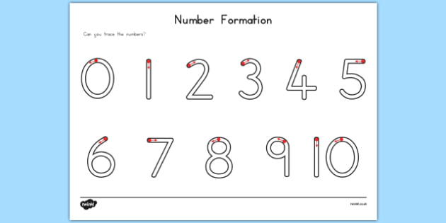 Number Formation Activity Sheet USA - usa, america, number formation, worksheet, overwriting