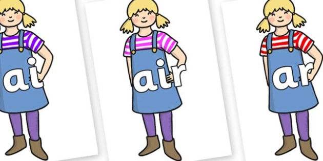 Phase 3 Phonemes on Little Girl - Phonemes, phoneme, Phase 3, Phase three, Foundation, Literacy, Letters and Sounds, DfES, display