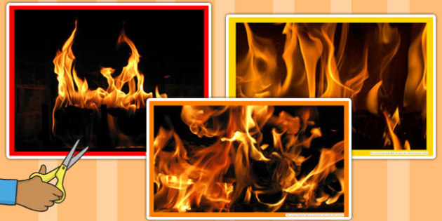 Fire Photo Cut Outs - fire, photos, cut out, images, display