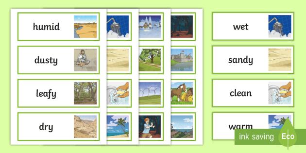 Setting Adjectives Word Cards - Setting Adjective Cards - KS2 Settings, Story Writing, Literacy, Writing, KS2 English, Story, Fictio